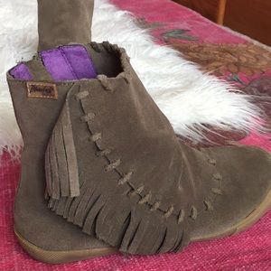 Blowfish Suede moccasin booties